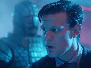 An Ice Warrior in Doctor Who S07E03: 'Cold War'