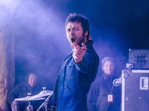 Kasabian perform at Snowbombing 2013.