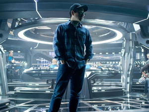 J.J. Abrams on the set of 'Star Trek: Into Darkness'