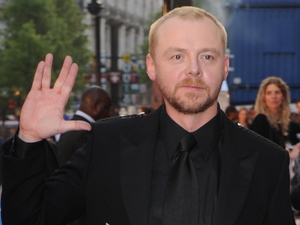 Simon Pegg at the UK film premiere of 'Star Trek' in April 2009
