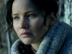 Jennifer Lawrence as Katniss Everdeen in The Hunger Games: Catching Fire
