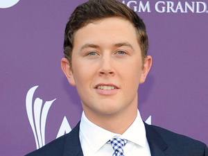 Scotty McCreery arriving at the Academy of Country Music Awards 2013