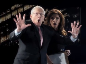 Nick Hewer, Karren Brady in 'The Apprentice' trailer