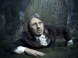 Richard Herring's poster for 'We're All Going To Die!'