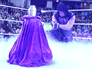 WWE Superstar The Undertaker at Raw with Paul Bearer&#39;s urn