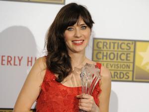 Zooey Deschanel at the Critics' Choice TV Awards 2012