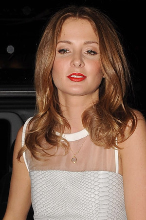 Millie Mackintosh and Professor Green's engagement party at Groucho club in Soho.
