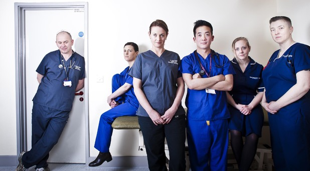 The cast of 24 Hours in A&E