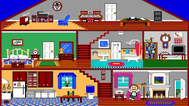 'Little Computer People' Atari ST screenshot