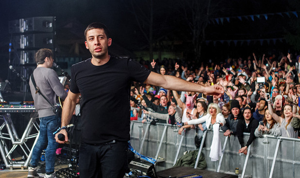 Example performs at Snowboming 2013.