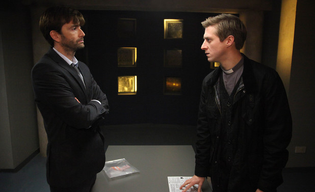 David Tennant as Alec Hardy and Arthur Darvill as Rev. Paul Coates and  in Broadchurch Episode 6