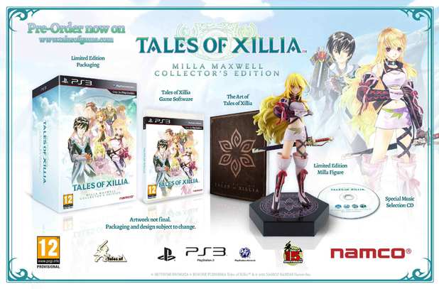 'Tales of Xillia' Milla Maxwell collector's edition