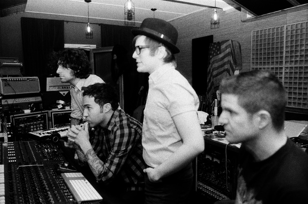 Fall Out Boy in the studio.
