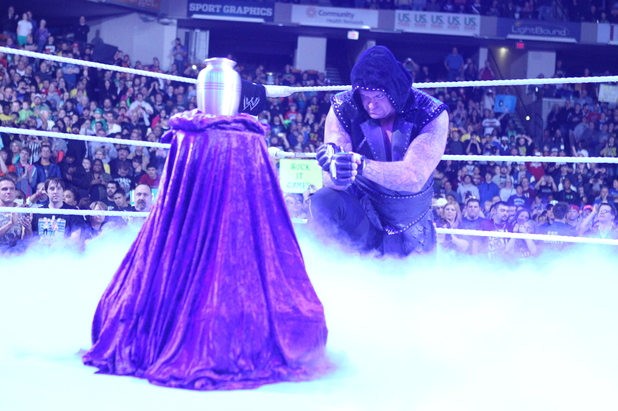 WWE Superstar The Undertaker at Raw with Paul Bearer's urn