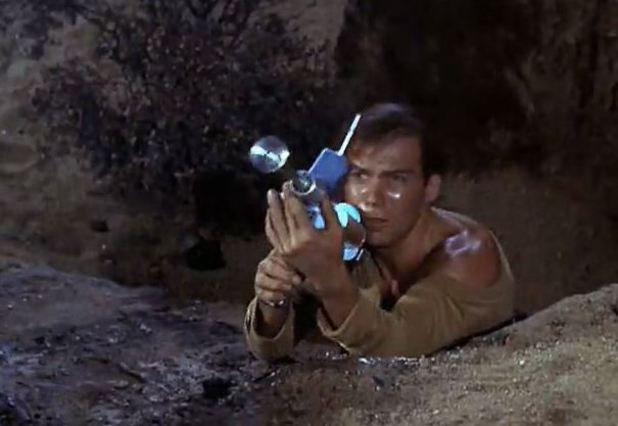 William Shatner as Captain James T. Kirk in 'Star Trek'