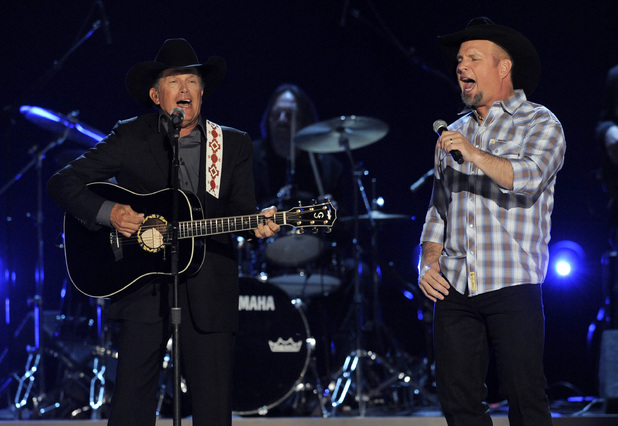 George Strait and Garth Brooks