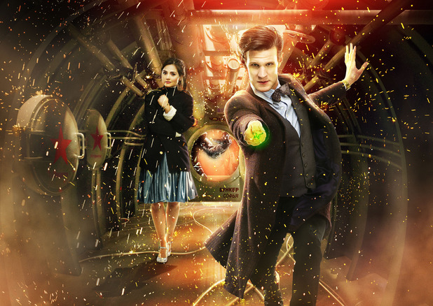 Clara (Jenna-Louise Coleman) and The Doctor (Matt Smith) in Doctor Who S07E03: 'Cold War'