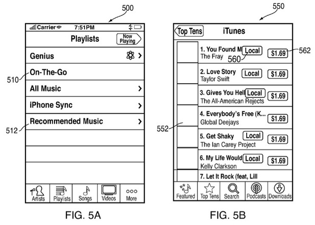Apple patent for offline iTunes sales