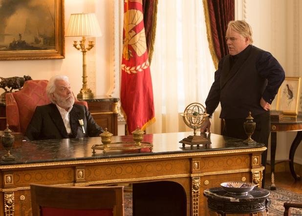 Donald Sutherland and Philip Seymour Hoffman