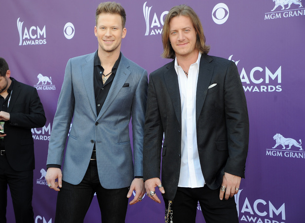 Florida Georgia Line arriving at the Academy of Country Music Awards 2013