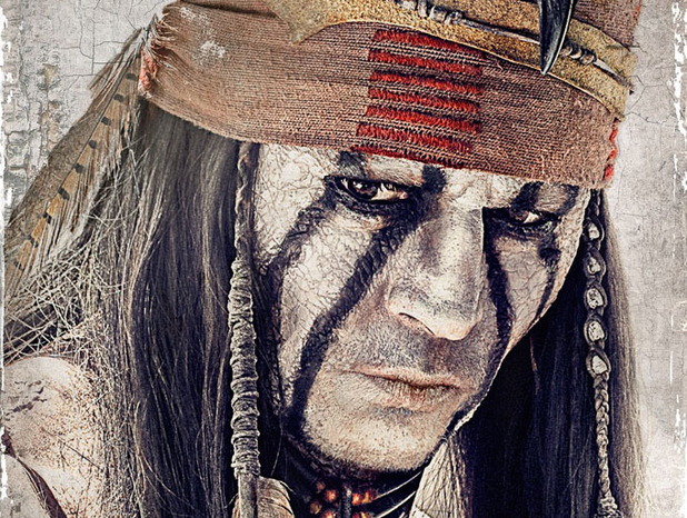 Johnny Depp as Tonto in 'The Lone Ranger' poster