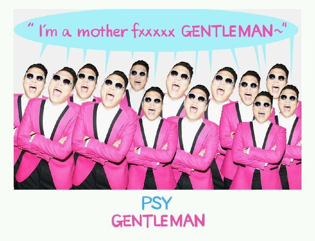 Psy new single 'Gentleman' promo poster.