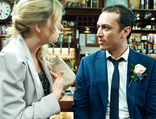 6529: Charity's unease with Jai is growing, especially as she tells him she does not want Rachel bringing Archie to work which causes him to snap