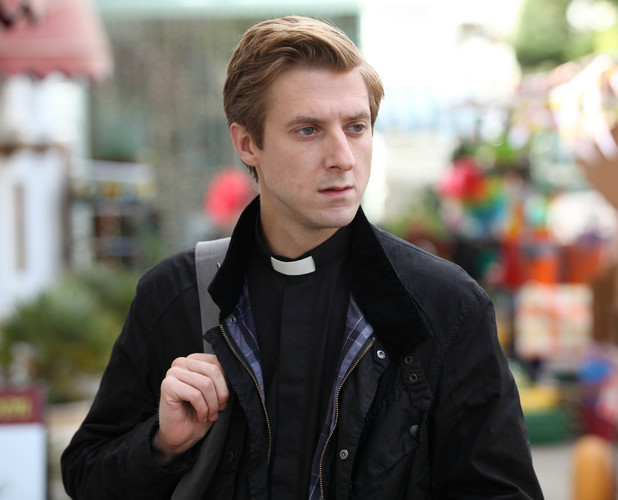 Arthur Darvill as Rev. Paul Coates and  in Broadchurch Episode 6