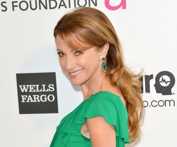 Jane Seymour arriving for 2013 Elton John AIDS Foundation Oscar Party