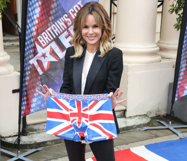 Amanda Holden arrives at the Britain's Got Talent press launch