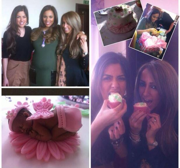 Pictures of Rochelle Humes's baby shower
