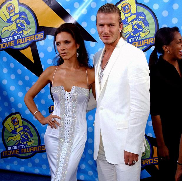 Victoria Beckham, David Beckham, MTV Movie Awards 2003, outfits, matching