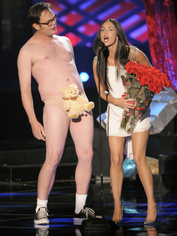 Rainn Wilson and Megan Fox