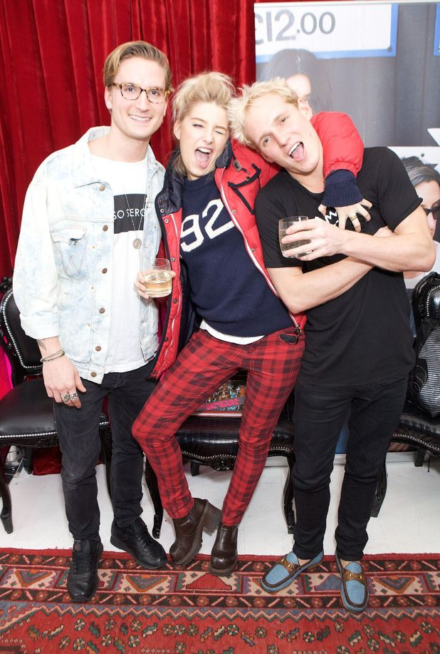 Oliver Proudlock, Phoebe-Lettice Thompson, Jamie Laing, 'In The Pink Carnival In Rio 1978' launch party,  London