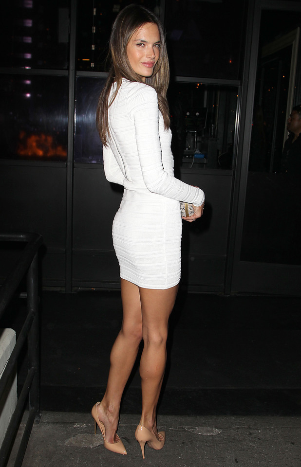 Alessandra Ambrosio, 32nd birthday, LA, white dress, fashion, Victoria's Secret