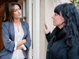 6531: Debbie refuses to tell Chas if she has seen the boys and closes the door in her face, leaving Chas rattled
