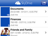 Screenshot of Microsoft Skydrive 3.0 on iPhone