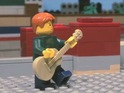The star's music video is recreated entirely from Lego blocks and figures.