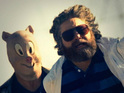 Zach Galifianakis's character includes a self-portrait on his blog.
