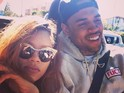 The 'Forever' singer starts following ex Karrueche Tran on Twitter.