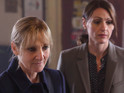 Lesley Sharp as DC Janet Scott and Suranne Jones as DC Rachel Bailey