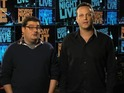 Vince Vaughn introduces Bobby Moynihan to his stunt double in sketch.