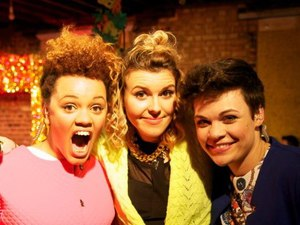 Gemma Cairney, Georgie Okell and Georgia LA host 'The Fox Problem'.