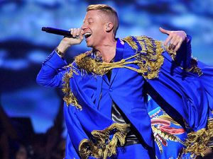 Macklemore & Ryan Lewis perform at the MTV Movie Awards 2013