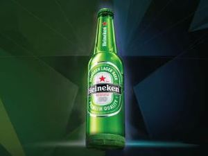 Heineken Ignite 'light up' beer bottle