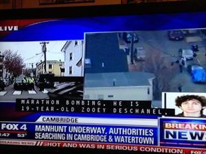 Zooey Deschanel mistakenly reported as Boston bomber