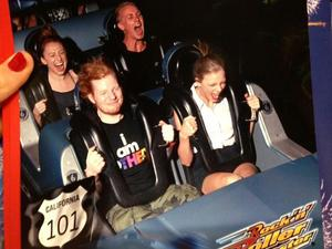 Taylor Swift and Ed Sheeran ride Disney World&#39;s Rock &#39;n&#39; Roller Coaster