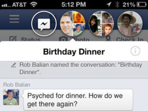 Facebook app for iOS