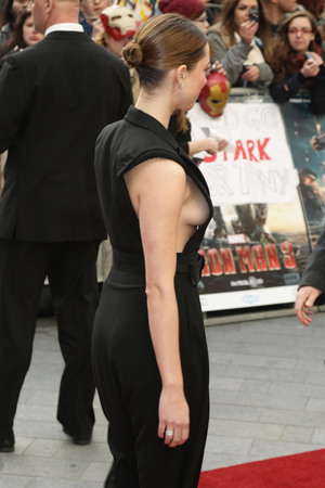 Rebecca Hall, Iron Man 3, jumpsuit, breasts