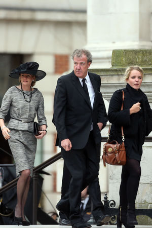 Jeremy Clarkson arrives for the funeral service of Baroness Thatcher, at St Paul's Cathedral
